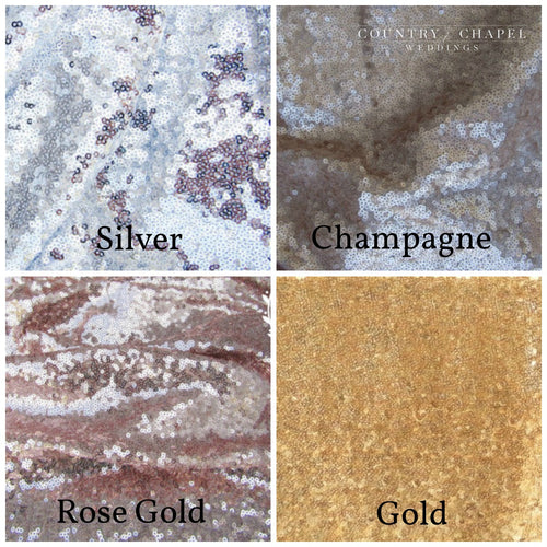 Sequin Table Runner Swatches