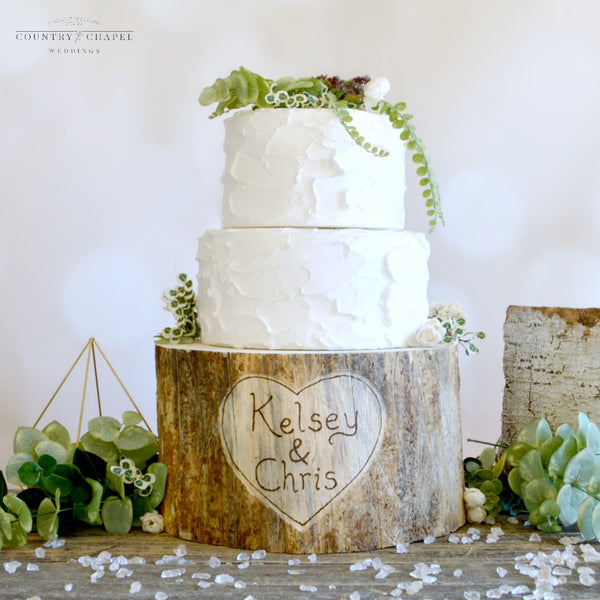 Personalized Heart Cake Stand