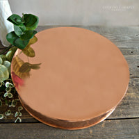 Hammered Copper Cake Stand