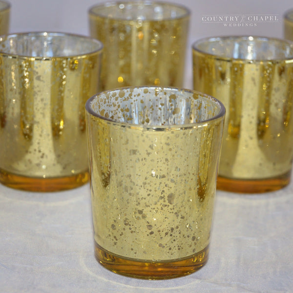Gorgeous, Glittery, and Gold Candle Holders