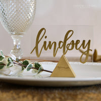 Triangle Place Card Holder • Choose Your Color