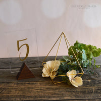 Triangle Table Number Holder • Choose Your Color