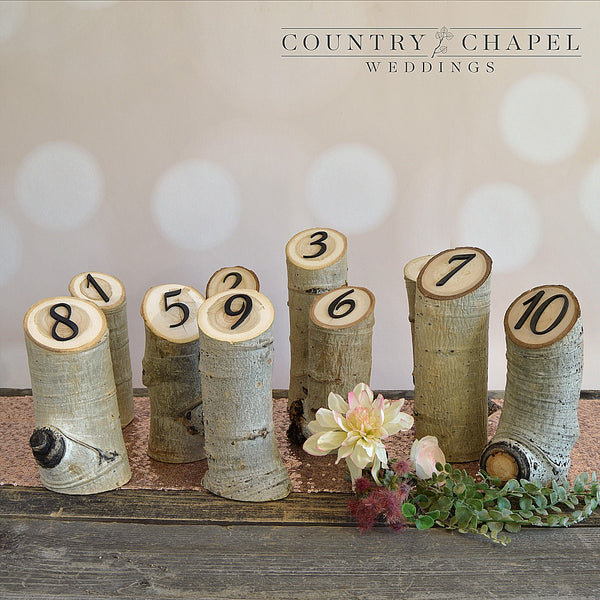 Lovely Aspen Log Table Numbers