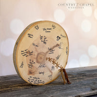 Stitched Wood Slice Guest Book