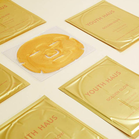 Youth Haus Golden Glow mask