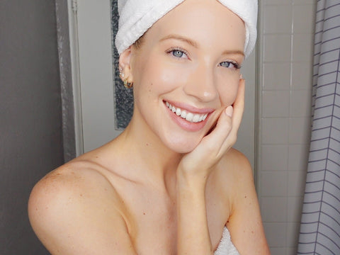 model beauty routine