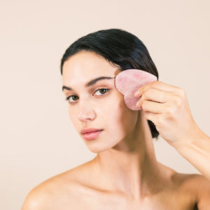rose quartz lovey gua sha