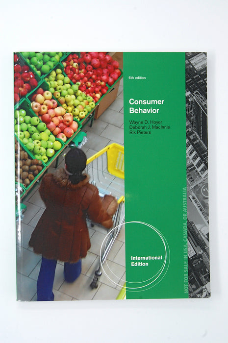 Aise Consumer Behavior Student edition 5ed. Hoyer, Macinnis, Pieters 9781133274490 Cengage