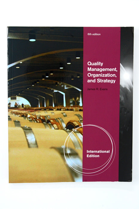 Aise Quality Management, Organization and Strategy Evans James R. 9780538469371 Cengage