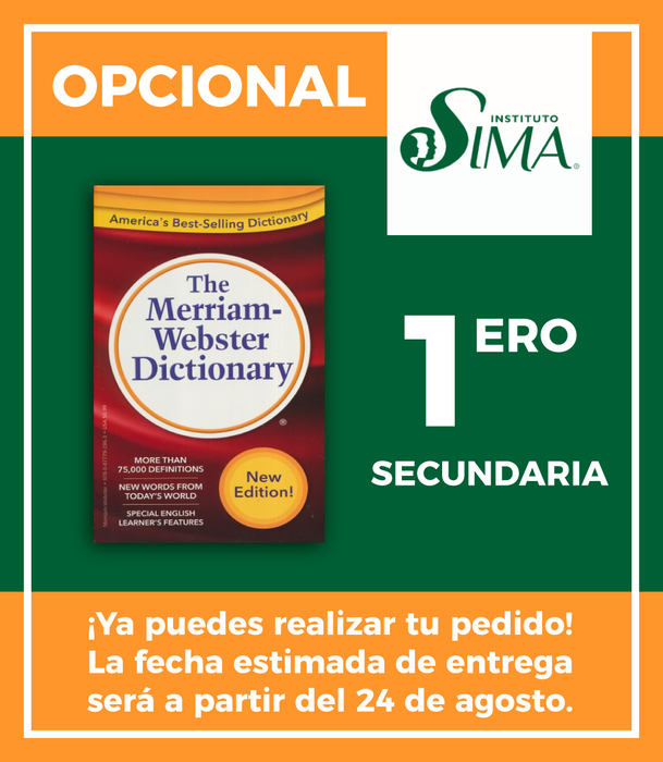 Instituto SIMA: 1 Secundaria (ENGLISH/ENGLISH DICTIONARY)