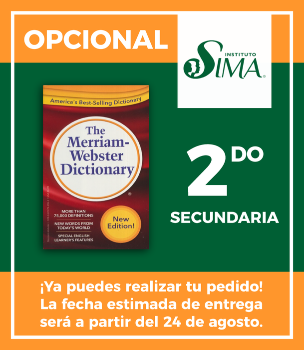 Instituto SIMA: 2 Secundaria (ENGLISH/ENGLISH DICTIONARY)