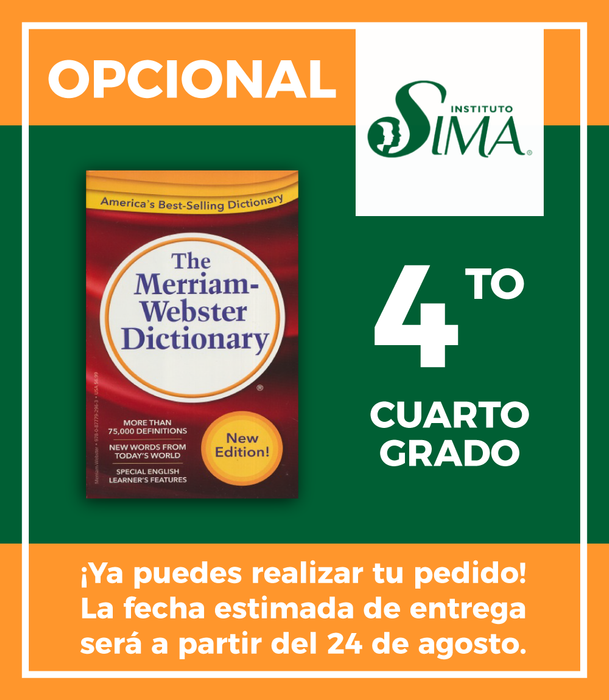 Instituto SIMA: 4 año (ENGLISH/ENGLISH DICTIONARY)