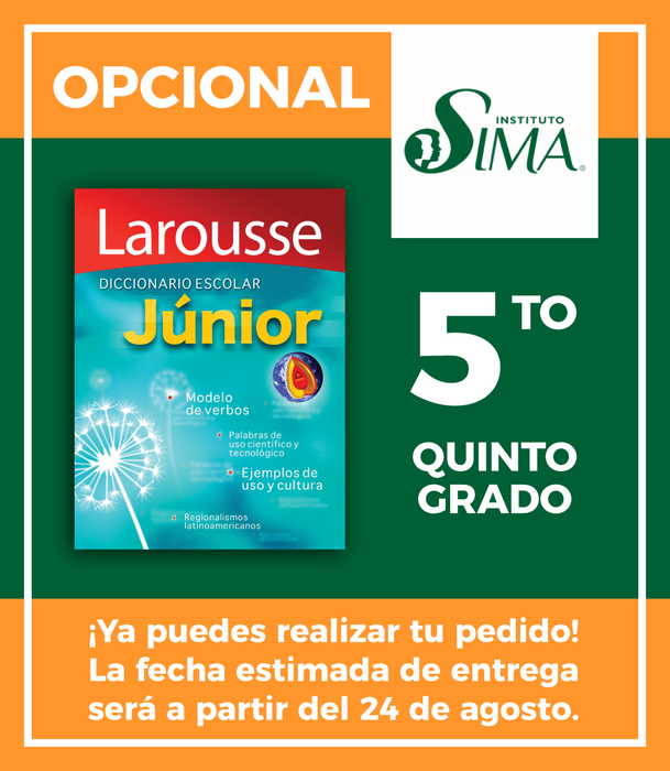 Instituto SIMA: 5 año (DICCCIONARIO EN ESPAÑOL ESCOLAR JUNIOR)