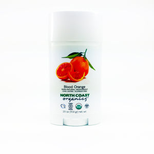 North Coast Organics Certified Organic Deodorant Photo - Blood Orange Front Label