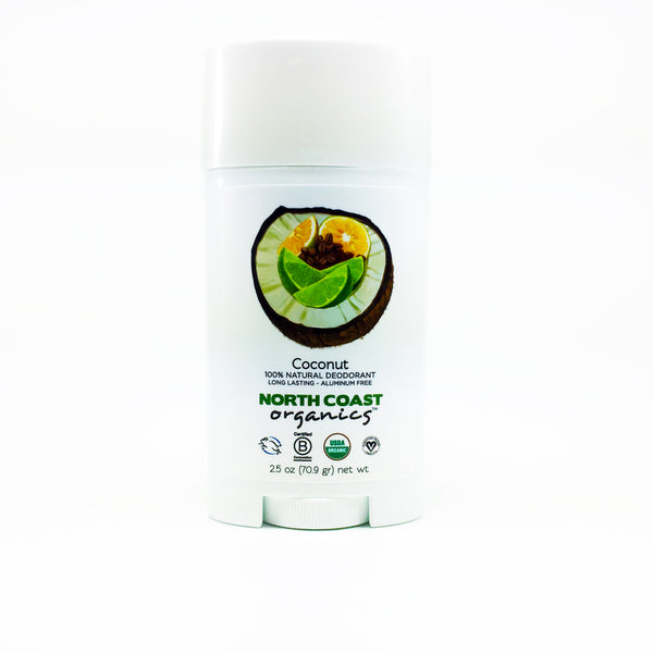 North Coast Organics Certified Organic Deodorant Photo - Coconut Front Label