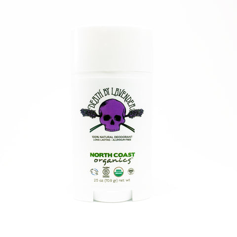 North Coast Organics Certified Organic Deodorant Photo - Death By Lavender Front Label