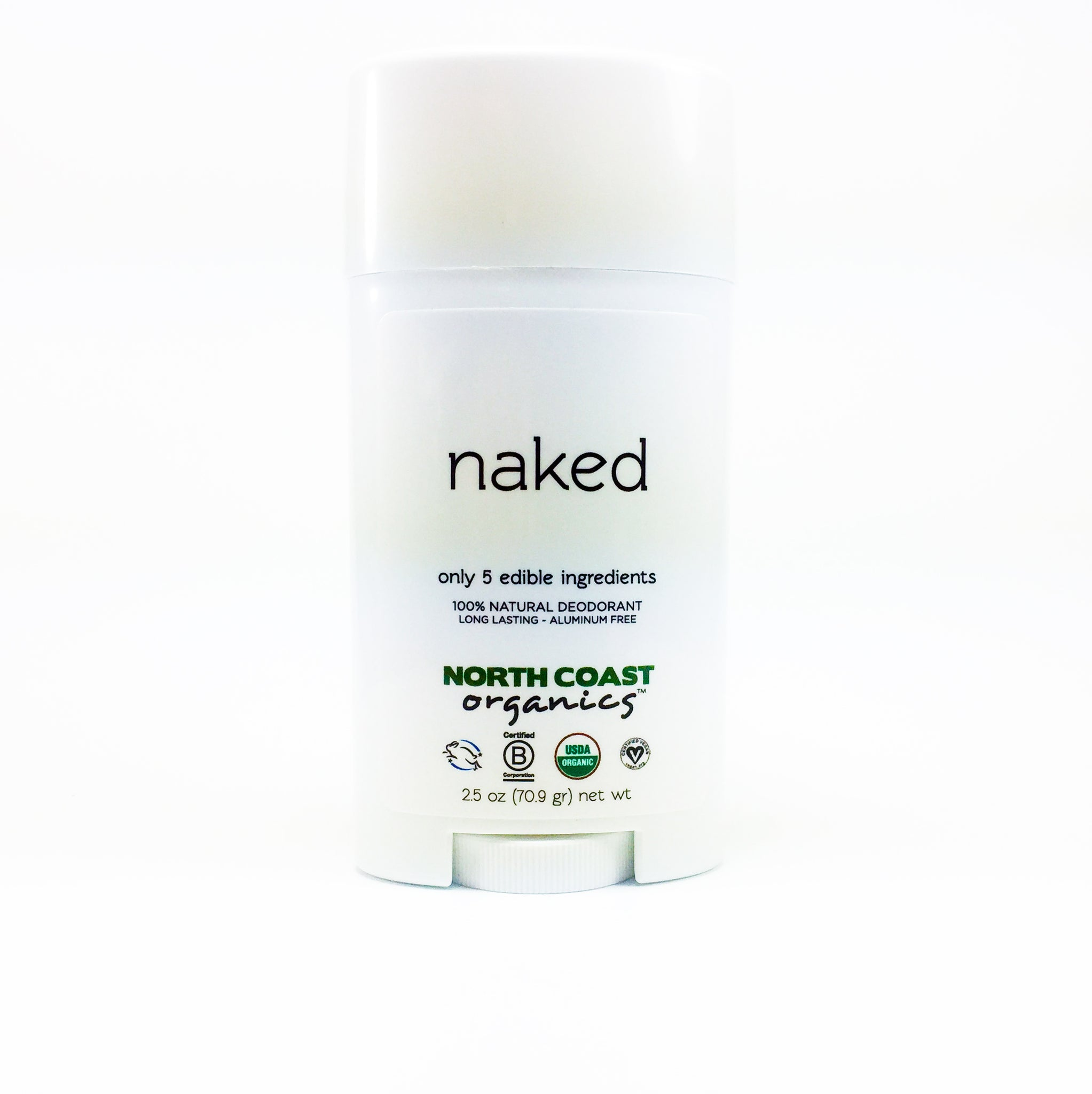 North Coast Organics Certified Organic Deodorant Photo - Naked Front Label