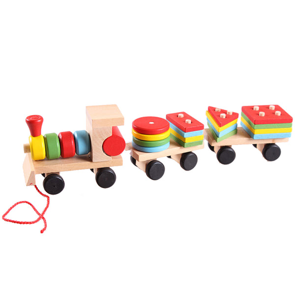 Wooden Stacking Train Block