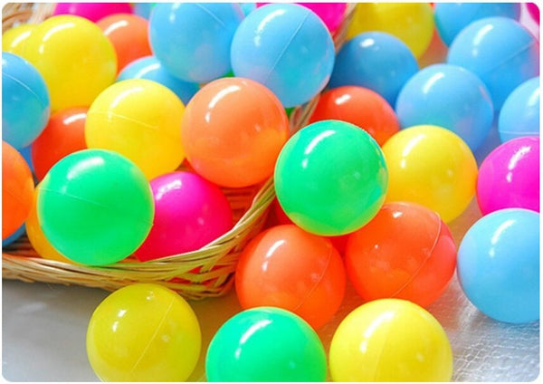 100 pieces Eco-Friendly Colorful Soft Plastic Ball for Baby