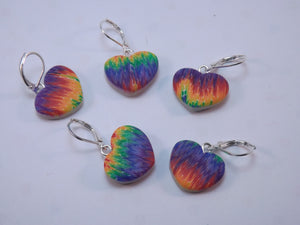 Rainbow Hearts Stitch Marker Set
