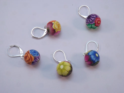 Colorful Floral Stitch Marker Set