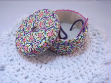 Colorful Rainbow Yarn Scrap Container
