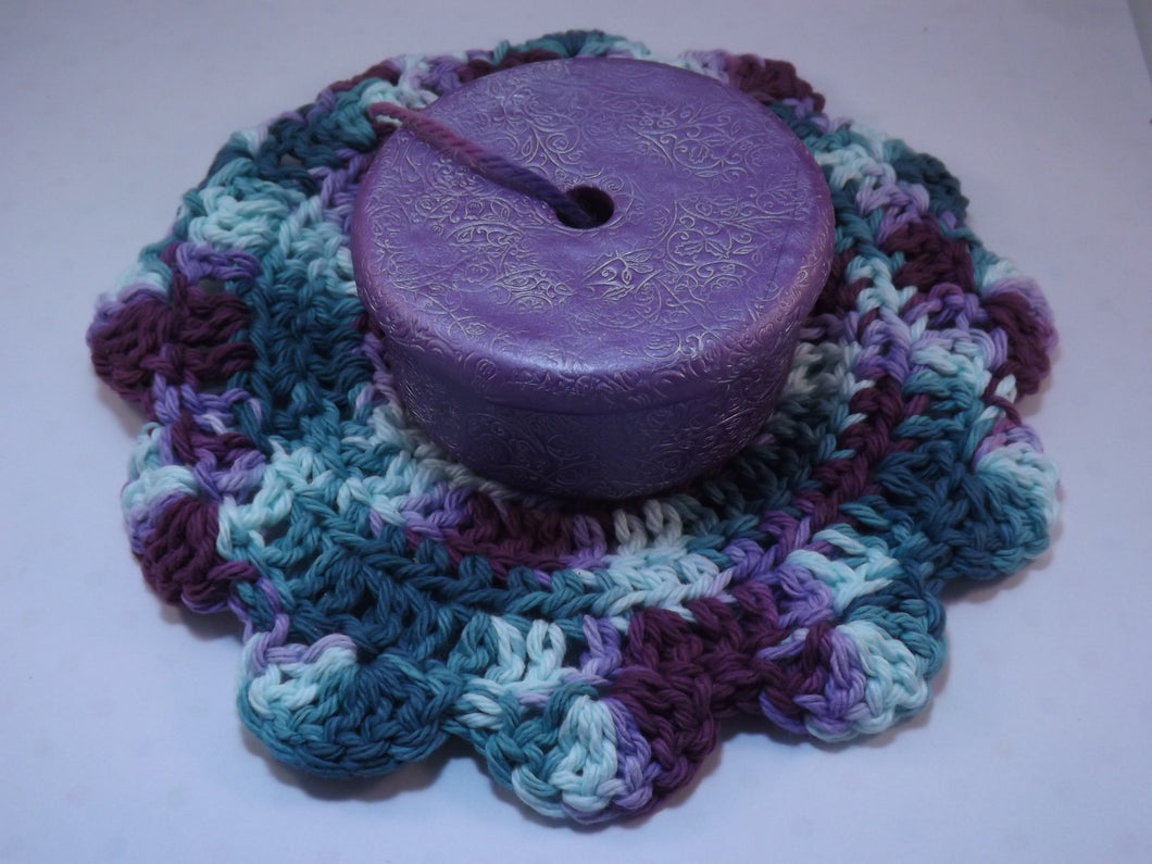 Pretty Purple Yarn Scrap Container