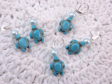 Howlite Turquoise Carved Turtle Stitch Marker Set