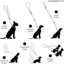 6 Way Multi-Function Dog Leash - Black