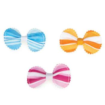 Aria Grosgrain Stripe Dog Bows