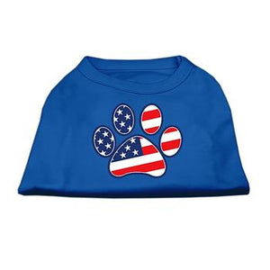 Patriotic Paw Dog Tank Top - Blue