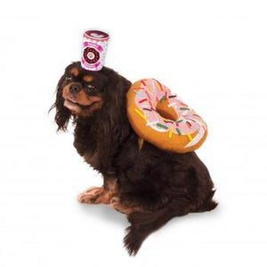 Donut and Coffee Dog Costume