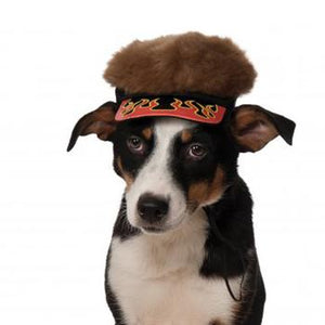 Flame Visor Dog Hat with Spikey Hair