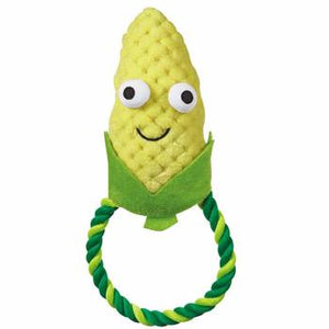 Grriggles Happy Veggies Rope Tug Dog Toy - Corn