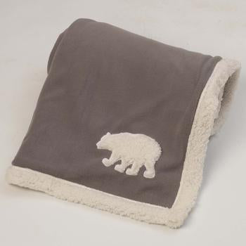 Jackson Polar Bear Fleece Dog Blanket - Gray