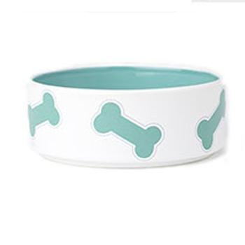 Kool Pet Bones Dog Bowl - Turquoise