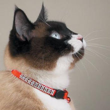 Meow Town Rhinestone Cat Collar - Red