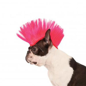 Mohawk Dog Wig - Electric Pink