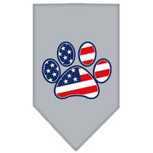 Patriotic Paw Dog Bandana - Gray