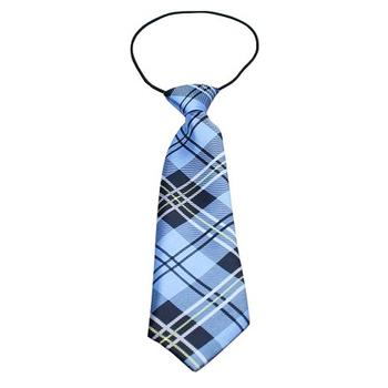 Plaid Big Dog Neck Tie - Blue (16-26