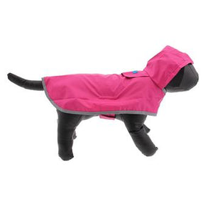 Raspberry Packable Dog Rain Poncho