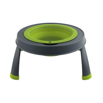 Single Elevated Dog Bowl By Popware - Green