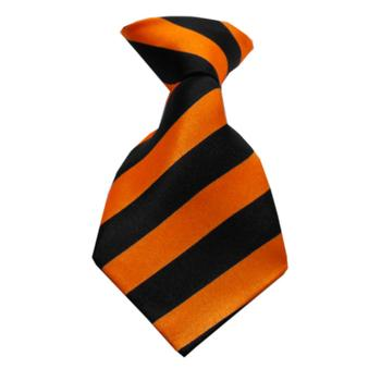 Striped Dog Neck Tie - Orange