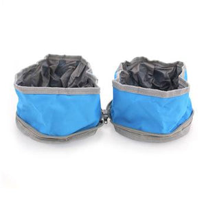 Travel Dog Bowl Set by GF Pet - Blue