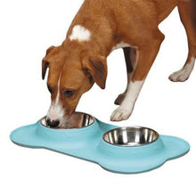 Zack and Zoey Crave Silicone Dog Diner - Aqua