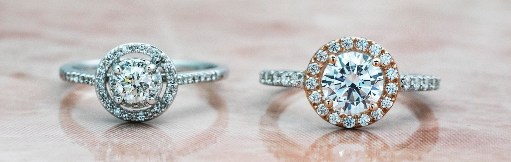Engagement ring comparison simulated vs diamond