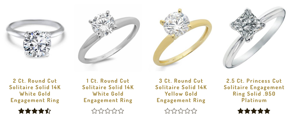 Online engagement rings for sale