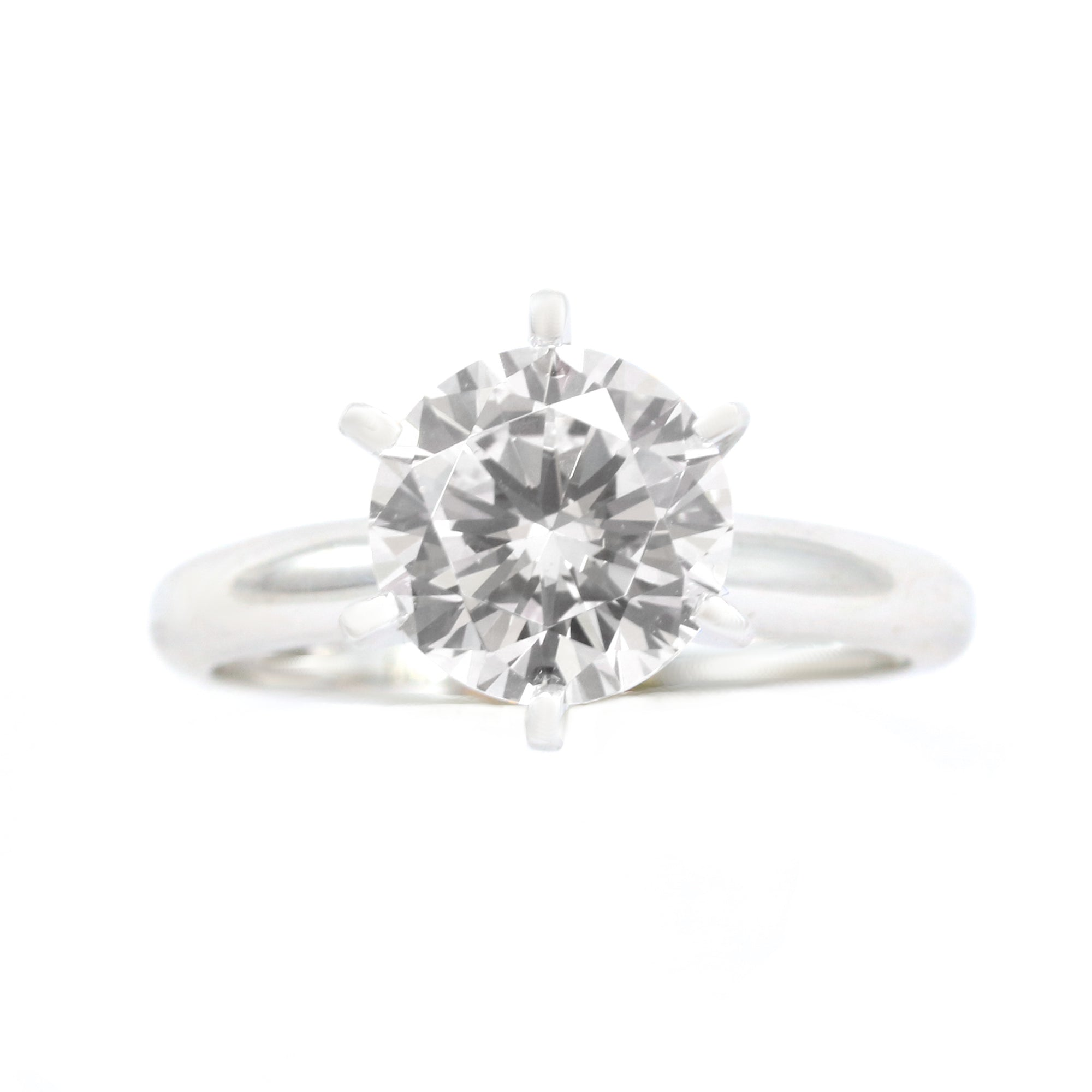 21c075a93 2 Ct. Round Cut Solitaire Solid 14K White Gold Engagement Ring - Glamour  Life Diamonds