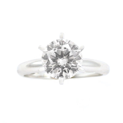 2 Ct. Round Cut Solitaire Solid 14K White Gold Engagement Ring - Glamour Life Diamonds