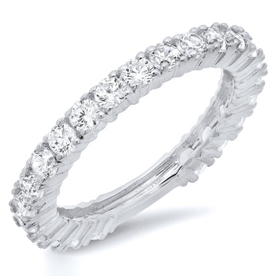 1.2 Ct. Pave Set Solid 14K White Gold Promise Engagement Ring - Glamour Life Diamonds